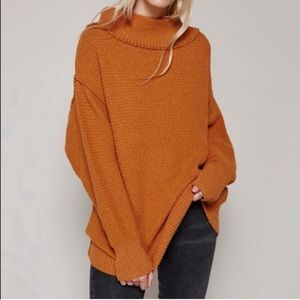 Free People Orange / Rust Sweater